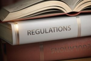 Regulations book. Law, rules and regulations concept.